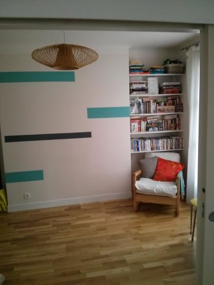 Mur à rayures de peinture - a blog pourpoint