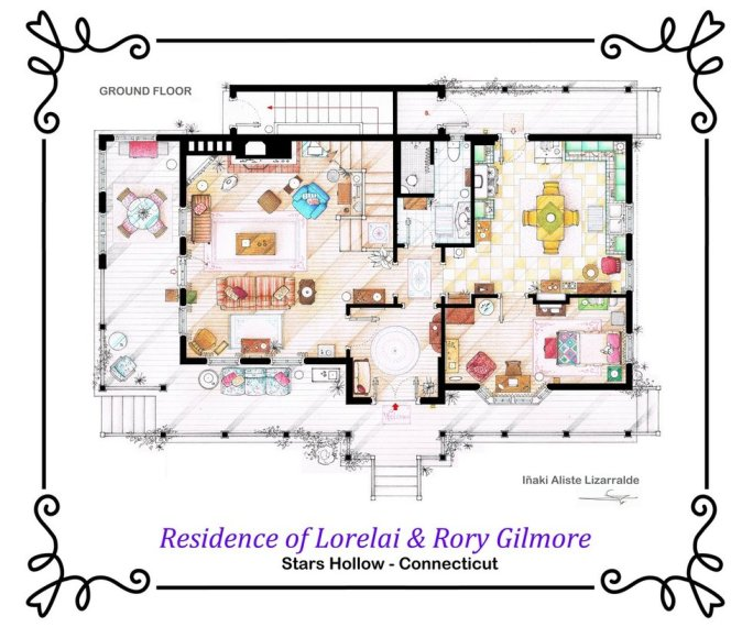 house_of_lorelai_and_rory_gilmore___ground_floor_by_ablog