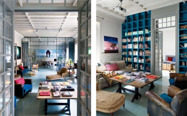 Decoration-bleue-espace-ouvert