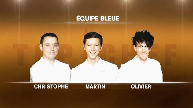 Equipe bleue Top Chef Ratatouille