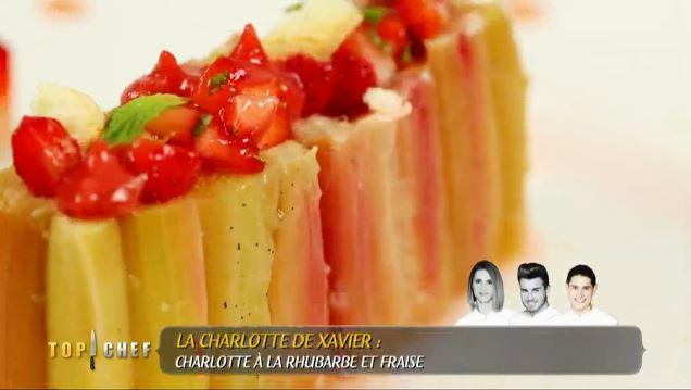 Xavier charlotte rhubarbe top chef