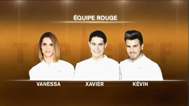 équipe rouge top chef